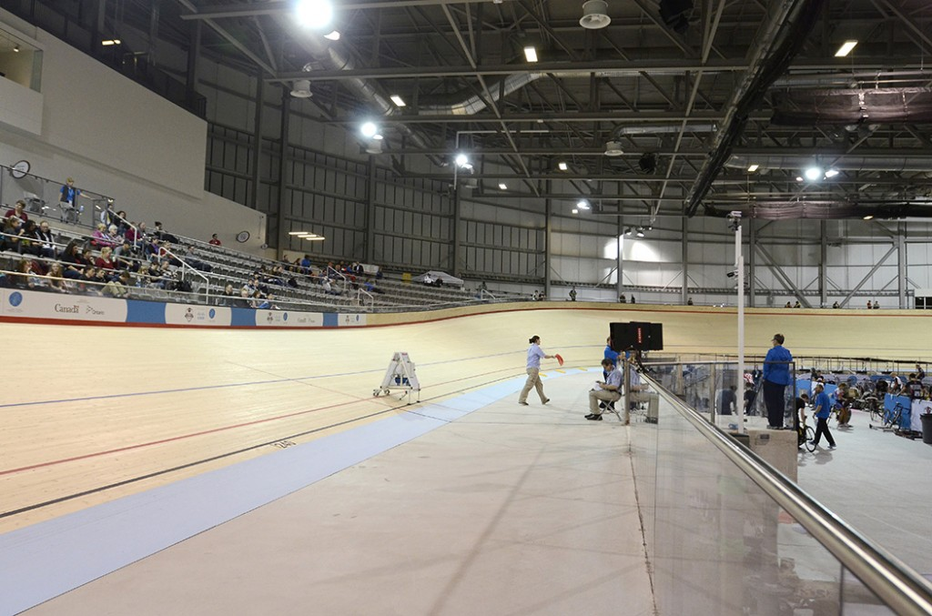 Setting up for the  Canadian National Track Cycling Championships via The Spec